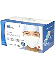IPTEC Disposable Surgical Face Masks,50 Pcs, Single-use, Made in Singapore, CE-marked, Soft Ear Loop, Breathable, 3 Layer, Hypoallergenic, Lightweight, Moisture Absorption on Inner Layer