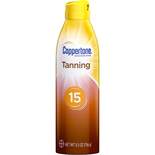 Coppertone Tanning Defend & Glow Sunscreen Continuous Spray Broad Spectrum SPF 15, 5.5 Ounces