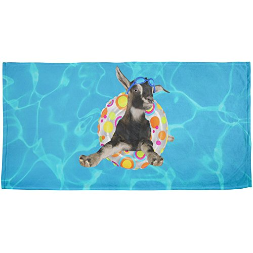 Animal World Whatever Floats Your Goat Boat Funny All Over Beach Towel Multi Standard One Size
