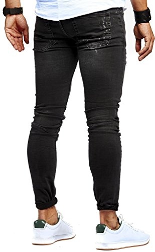 Jeans Leif Nero Slim Nelson Uomo UOvp5O