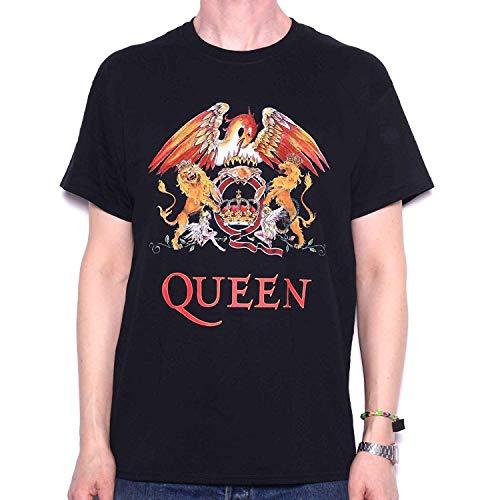 - Queen Men's Crest Logo T-Shirt X-Large Black