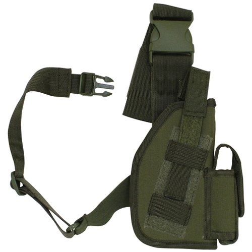 (Fox Outdoor Products SAS Tactical Leg Holster, Olive Drab, 5
