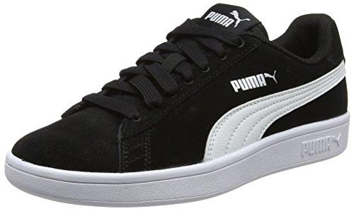 Noir Smash V2 Black White puma Silver puma Adulte Baskets puma Mixte Puma Basses dY4nwqxaZZ