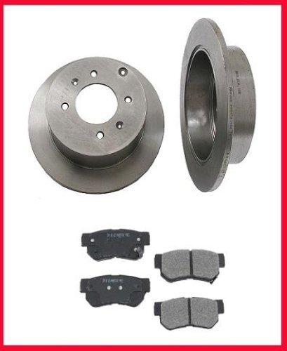 Mac de auto partes 41108 trasera freno de disco rotores y pastillas de freno para Kia Sportage (modelos 4 x 4 l y 2,7: Amazon.es: Coche y moto