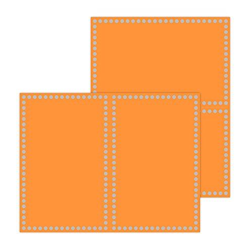Astrobrights Papel de aluminio mejorado certificados, 8.5'x 5.5', 65lb/176G/m2, diseño de círculos naranja, diseño de...