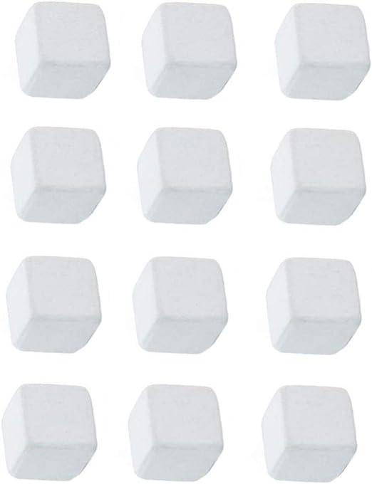 POPETPOP 12pcs Fish Tank Calcium Stone Natural Calcium Mineral Reptiles Molar Cube Calcium Supplement Grinding Rock Block for Freshwater Aquarium Tank White