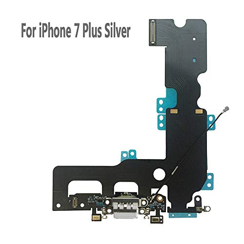 UTechZH USB Charging Port Headphone Jack Dock Connector W/Mic Flex Cable Cellular Antenna Replacement Part Compatible for iPhone 7 Plus 5.5