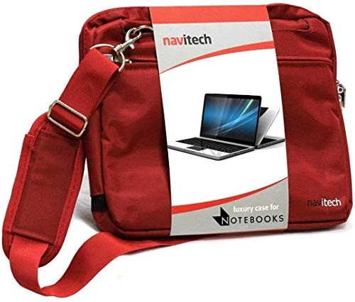 Navitech Red Premium Messenger/Carry Bag Compatible with The MSI GL63 8SC-059 15.6
