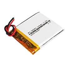 uxcell® DC 3.7V 1000mAh Reycle Charge Lithium Li-po Battery Pack Silver Tone