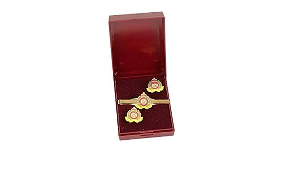 suffolk Regimiento de gemelos y corbata bar regalo Set.: Amazon.es ...
