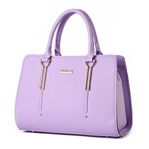 Purple Satchel Handbag - 7