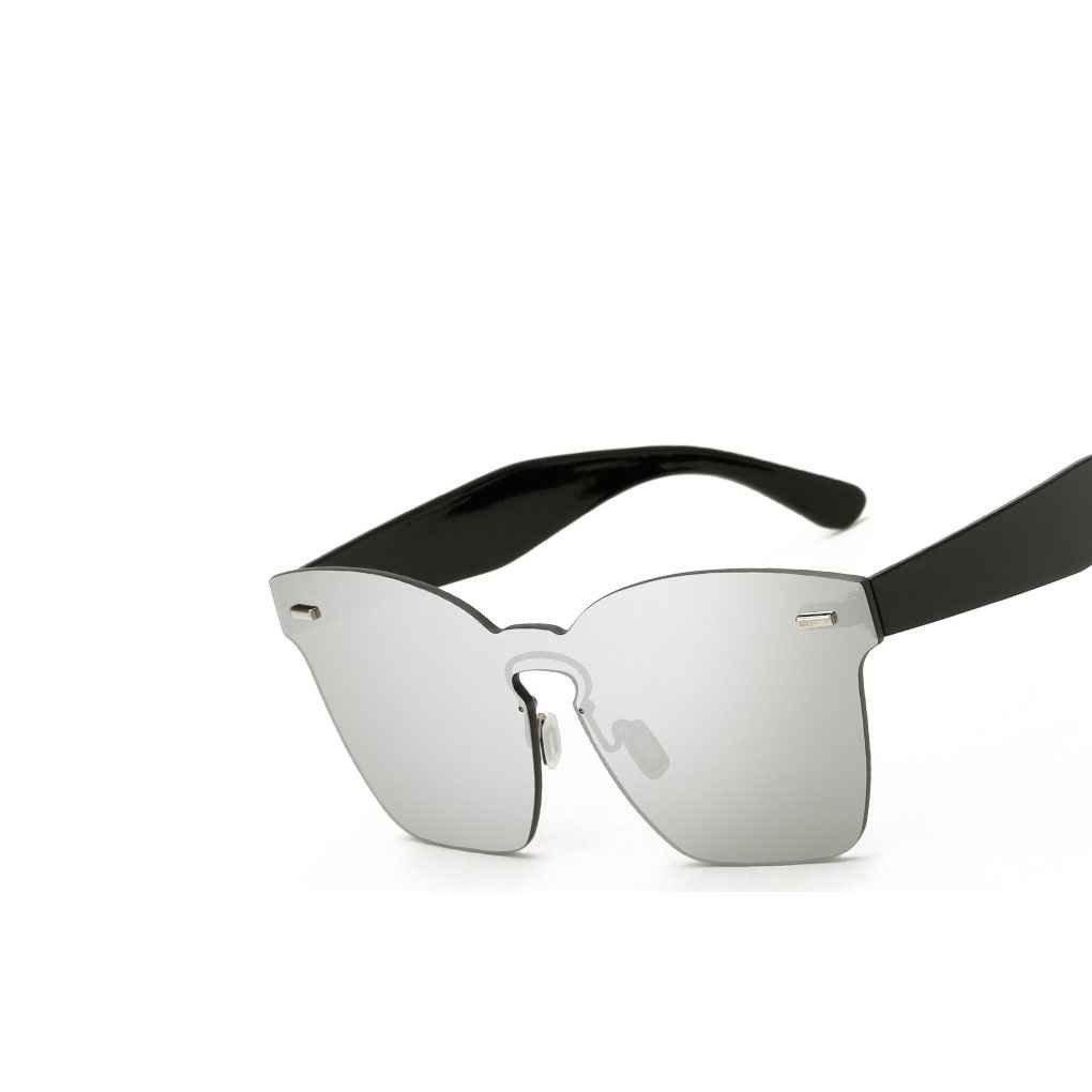Candy Colors Square Frameless Sunglasses UV400 Summer Women Men Big Eyeglasses Eyewear Jiasijieke
