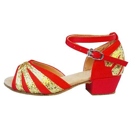 T Donna pancia Rosso da scarpe Kids di T rosso oscillazione ballo moderno Sneakers Q rpnZqrT