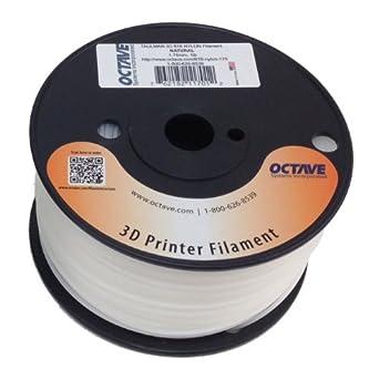 Taulman 3D 618 Natural Nylon Filament for 3D Printer 1.75mm 1lb Spool MADE IN USA