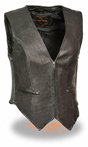 Zipper Leather Vest - 9