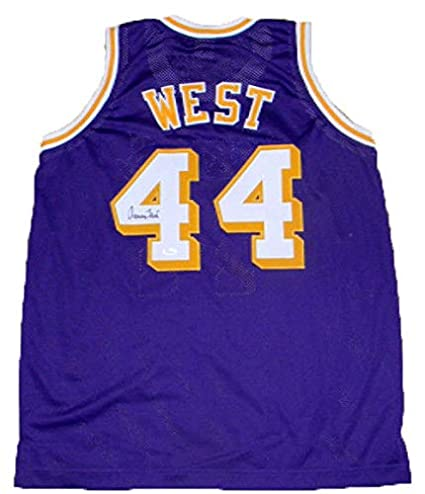 331bcc81022 Image Unavailable. Image not available for. Color  Los Angeles Lakers Jerry  West Autographed Signed 44 Purple Basketball Jersey JSA