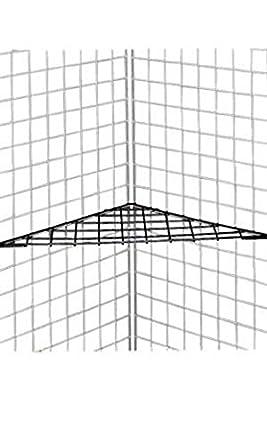 amazon com new retail black finish triangle grid shelves 24 x 24