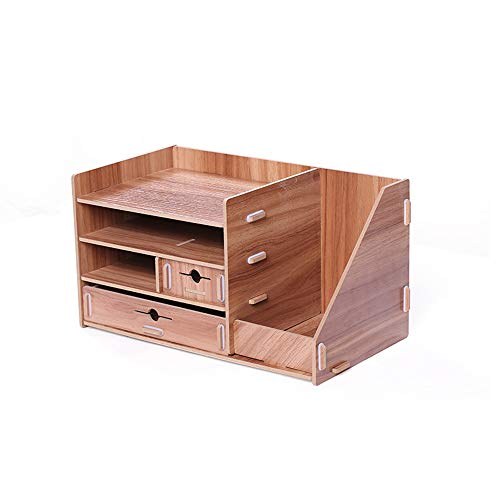 Cabinet Vanity 550 - 2Pcs Desk Organizer Storage Rack Office Bookshelf Multipurpose Stable Non-Toxic and Environmentally Beautiful for Desk Vanity Tabletop in Home or Office