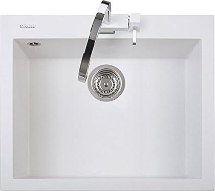 Lavello Cucina Incasso 1 Vasca L 60 cm Bianco Latte ON6010UG58 ...