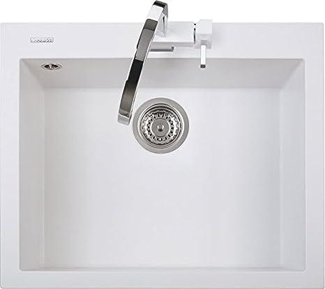 Lavello Cucina Incasso 1 Vasca L 60 cm Bianco Latte ...
