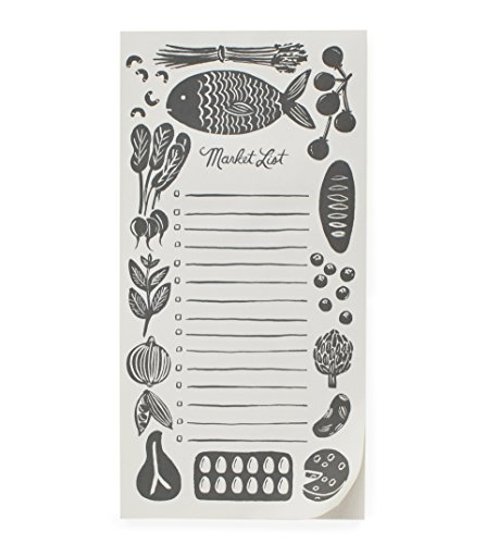 Rifle Paper Co. Woodblock Market Grocery List Magnetic Note Pad
