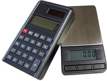 G & g PC Custodia bilancia & calcolatrice (2in 1) bilancia digitale/bilancia per oro, per monete, 200 x 0,01 g GundG