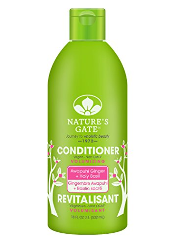 Nature's Gate Awapuhi Volumizing Conditioner for Fine/Limp Hair, 18 Ounce (Pack of 4)