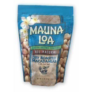 Mauna Loa Macadamias - Mauna Loa Macadamias, Dry Roasted with Sea Salt, 11-Ounce Packages (Pack of 2)