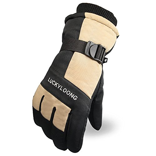 No.66 Town Men's Outdoor Keep Warm Windproof Hiking Gloves,Skiing Gloves,Winter Gloves Size M Khaki