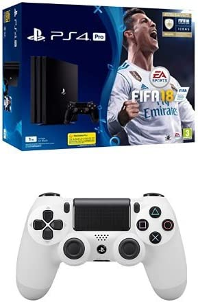 PlayStation 4 Pro (PS4) - Consola de 1 TB + FIFA 18 + Sony - Dualshock 4 V2 Mando Inalámbrico, Color Glacier White (PS4): Amazon.es: Videojuegos