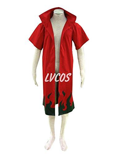 Lvcos Uzumaki 6th Hokage Cloak Cosplay Costumes