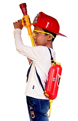 [Fireman hat Toy and Firefighter Backpack Water Gun Toy Children Role Play Toys] (Toy Gas Mask)