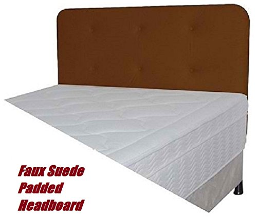 Faux Suede Headboards (Chocolate Brown Faux Suede Padded Headboard (Full))