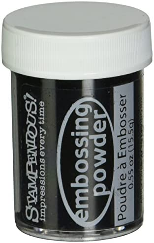 Stampendous Detail Embossing Powder .5 Ounce-Black Opaque