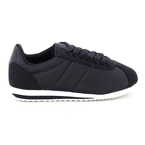 Zapatillas bajas con encaje ultra ligero Negro