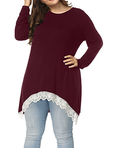 Allegrace Womens Sleeves Casual Shirts