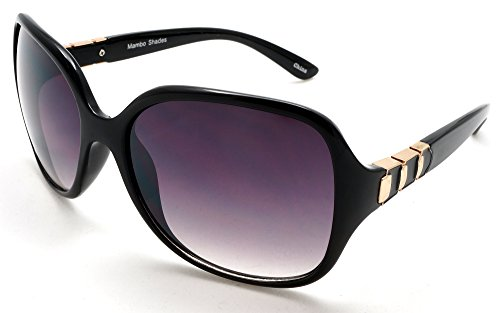 Women's Oversized Fashion Classic Sunglasses - Bombshell Mambo Shades Black Replica Sunglasses