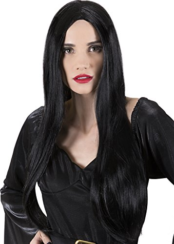 [Kangaroo's Halloween Accessories - Long Witches Wig] (Halloween Costumes Black Wig)