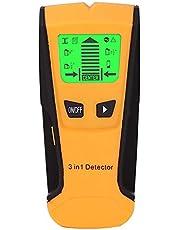 Localizador de parede Sazoley 5 em 1 - Sensor eletrônico de pino de parede e scanner central - com visor LCD de bateria para detecção de parafusos de metal de madeira