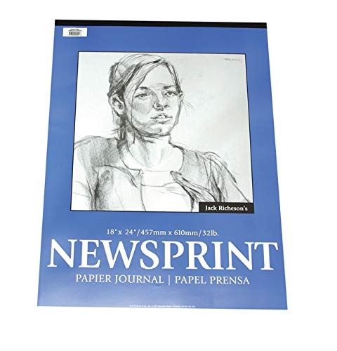 Jack Richeson Newsprint Pad, 32 lbs, 18 x 24 Inches, 100 Sheets by Jack Richeson