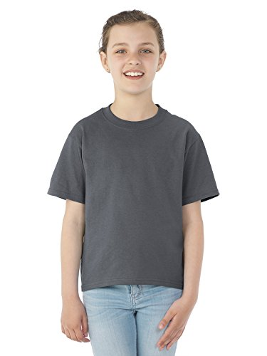 Jerzees Youth 5.6 oz., 50/50 Heavyweight Blend T-Shirt, Small, CHARCOAL GREY (Youth T-shirt Grey)
