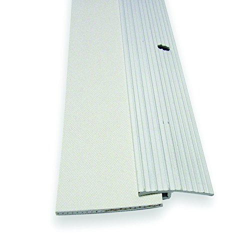 WJ Dennis & Company 940W Aluminum & Reinforced Rubber Door Sweep, 2-Inch x 36-Inch, Rubber, White
