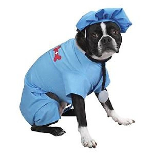 Defonia Casual Canine ER DOCTOR Dog Halloween Costume XS - XL (Doctor Dog Costume)