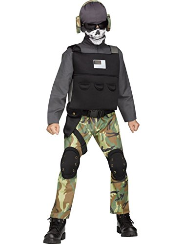 Skull Soldier Kids Costume (Soldier Costumes For Kids)