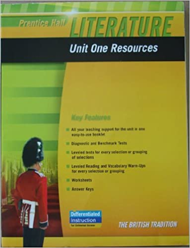 Amazon.com: PRENTICE HALL LITERATURE 2010 UNIT 1 RESOURCE GRADE 12 ...