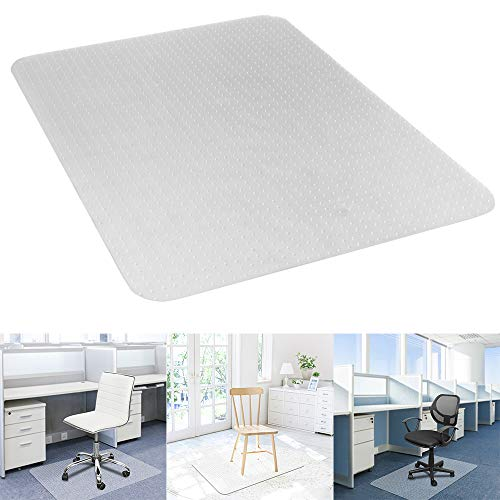 (Goujxcy Office Chair Mat,PVC Rectangle Floor Protection Mat for Gaming Computer Chair Floor Protector for Office and Home Hardwood Anti-Slip Thin Desk Floor Protective Mats)