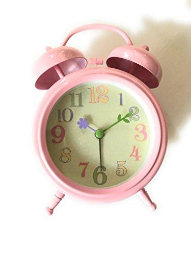 Pottery Barn Kids Desk Clock 4 5  Wide X 5  High  Pink Flower