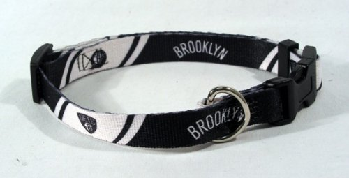 "Hunter Brooklyn Nets Adjustable Pet Collar, 5/8"" Wide X-Small Size"