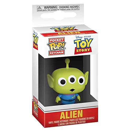 Funko-Pocket Keychain Toy Story Alien Pop Llavero for Unisex in Standard Made of Vinilo, Multicolor (37055)
