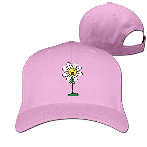 FASN Cartoon Tulip Flower Peaked Baseball Cap With Pink ()